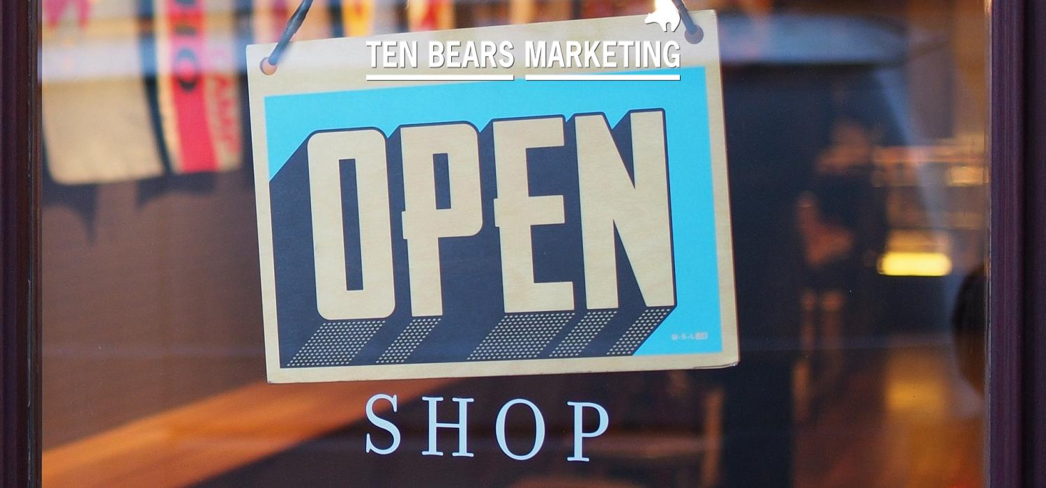 Shop open sign to illustrate business support